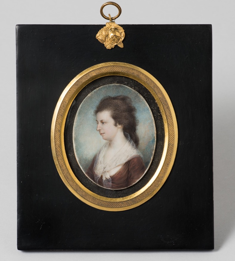 Miniature portrait of Mrs. James Peale by James Peale