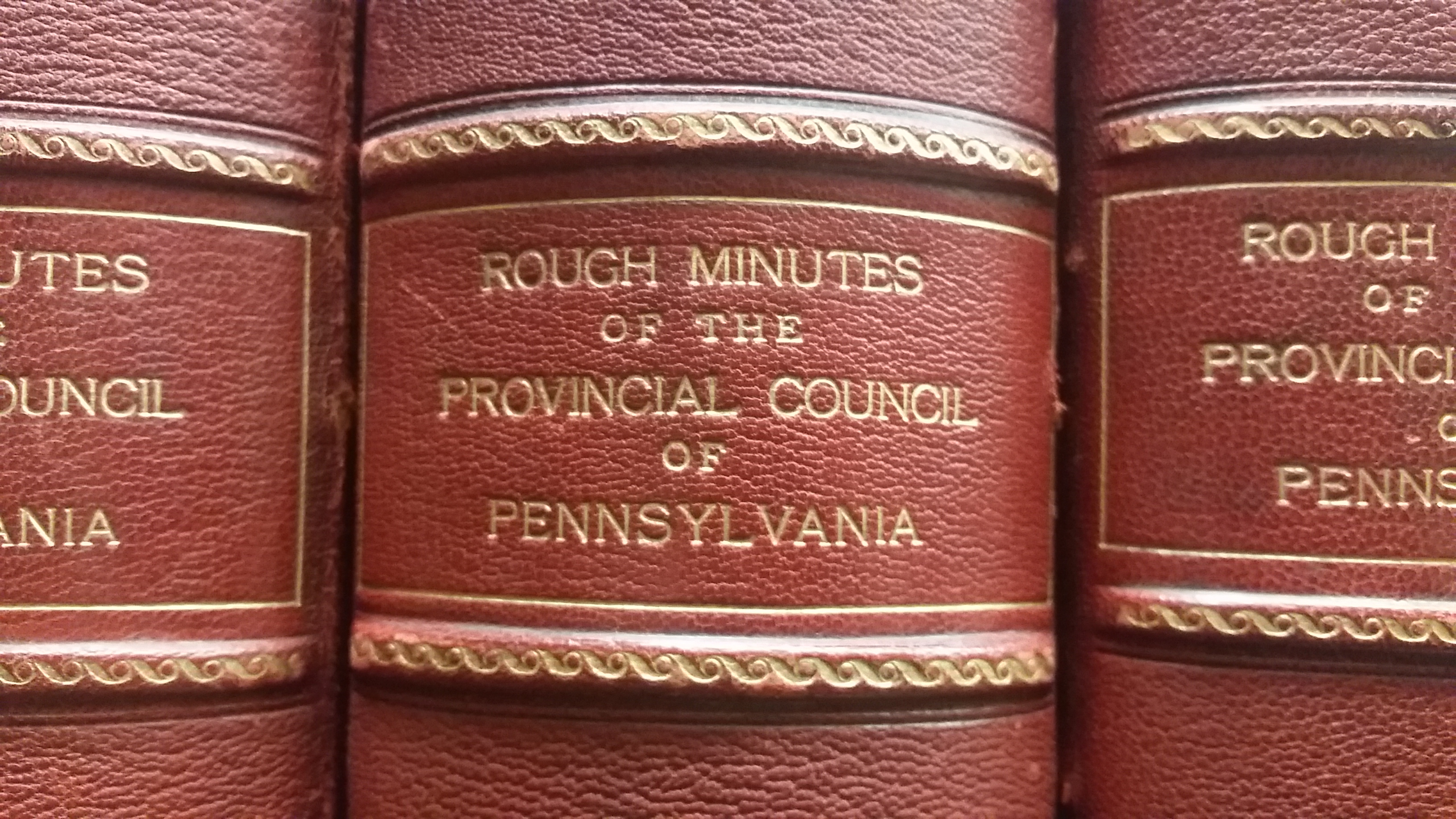 Book spine of council minutes volume