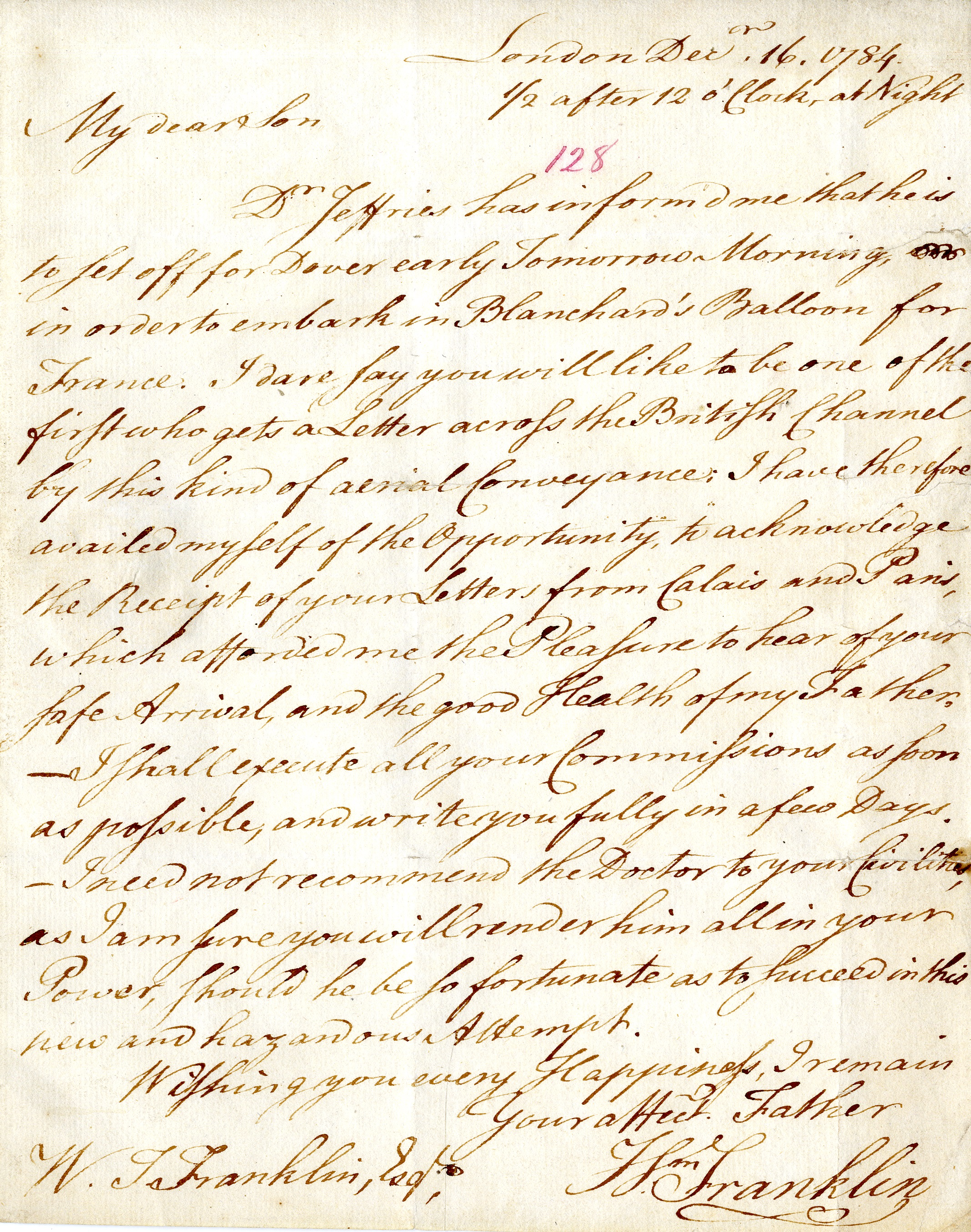18th century letter