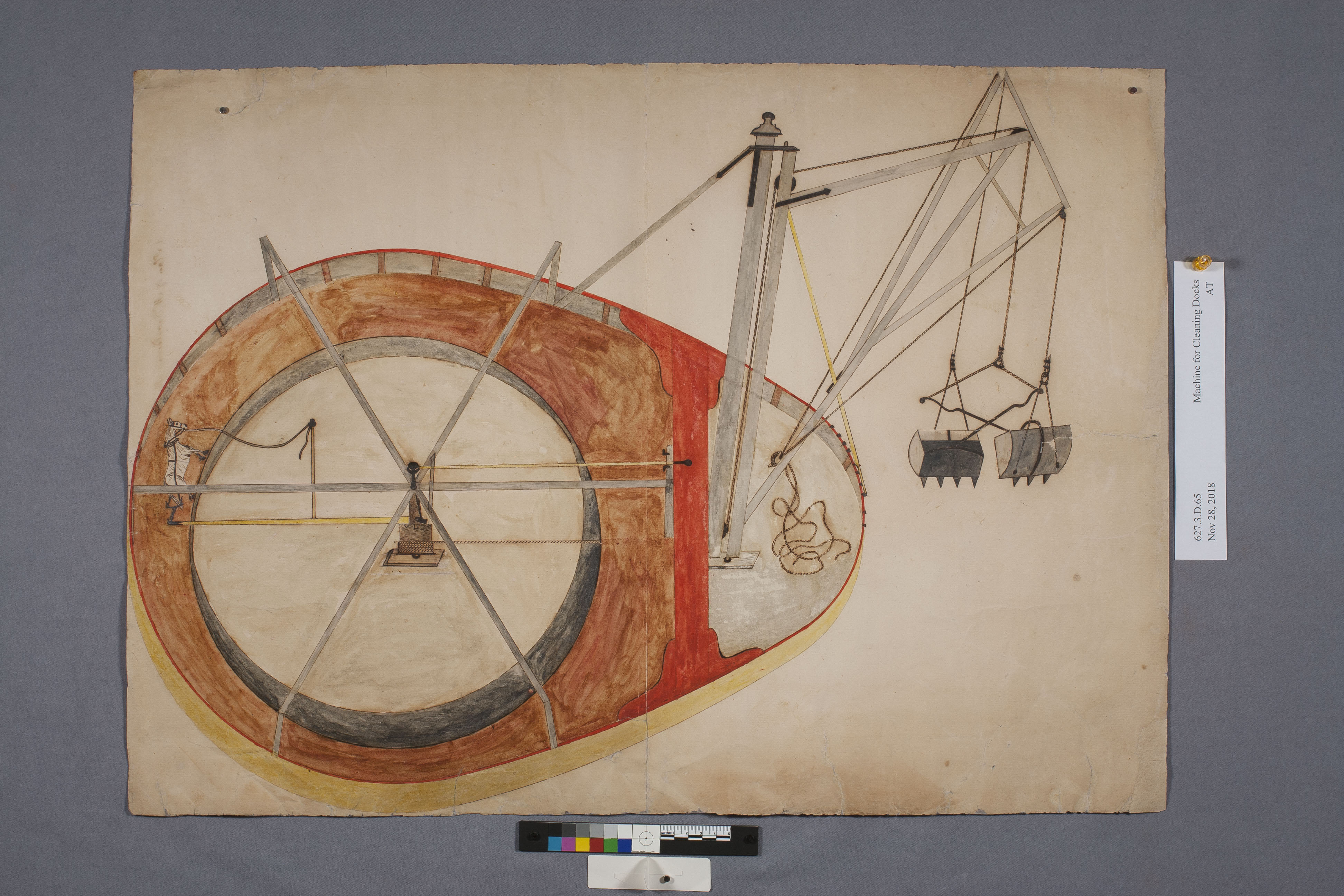 steam shovel drawing after conservation