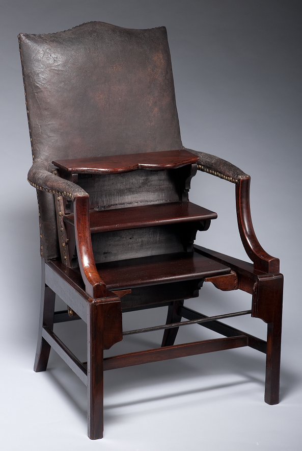 Delicieux Chair Library Chair With Folding Steps, Benjamin Franklin ...