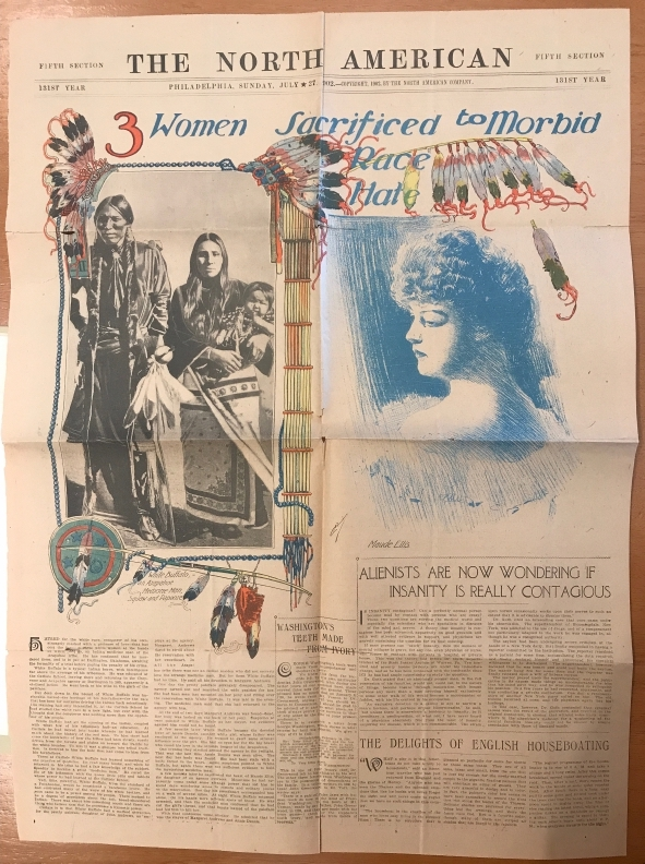 cover of newspaper article