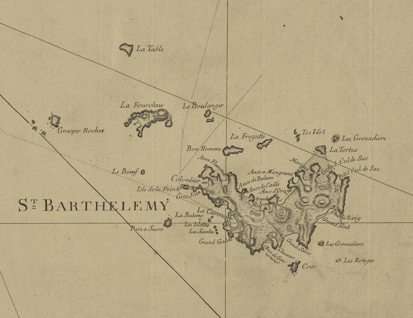 map of Saint Bathelemy island