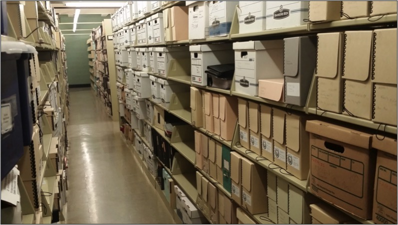 photo of library storage