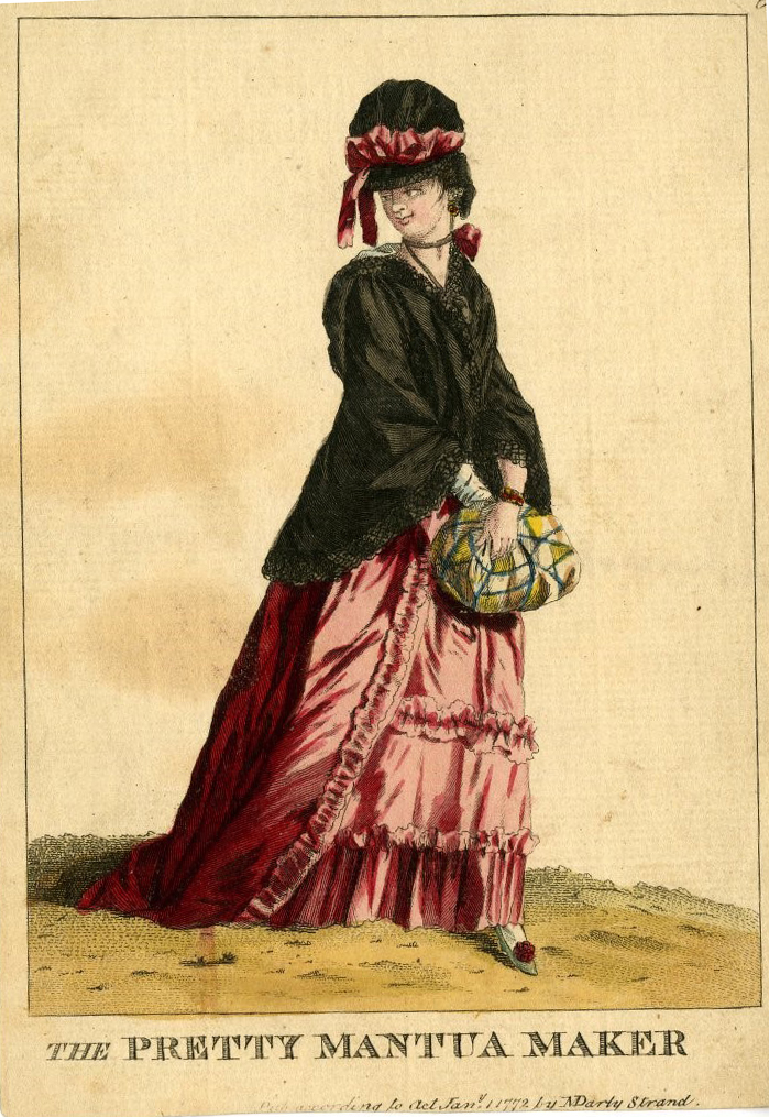 image of woman in 18th century dress