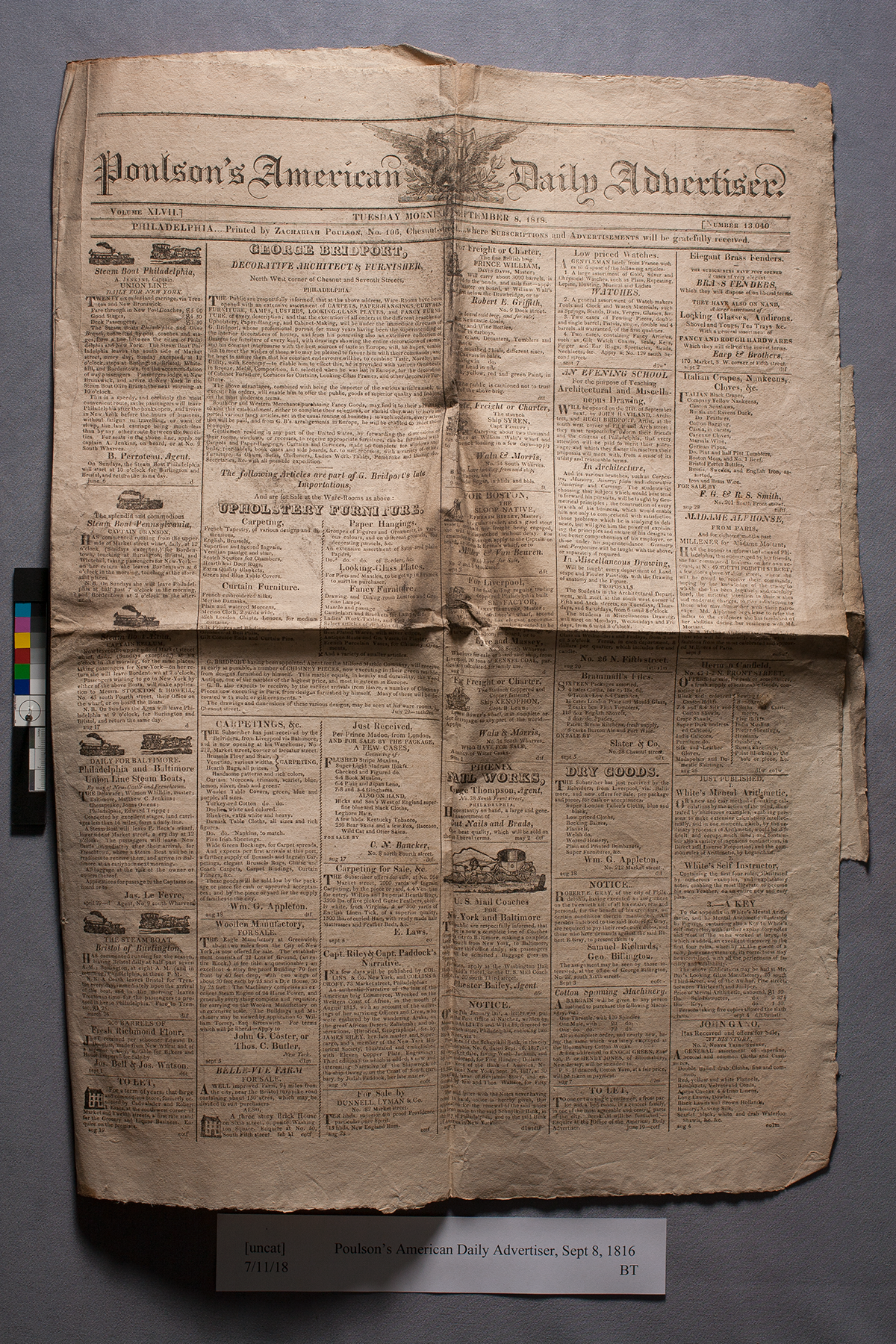 newspaper before conservation