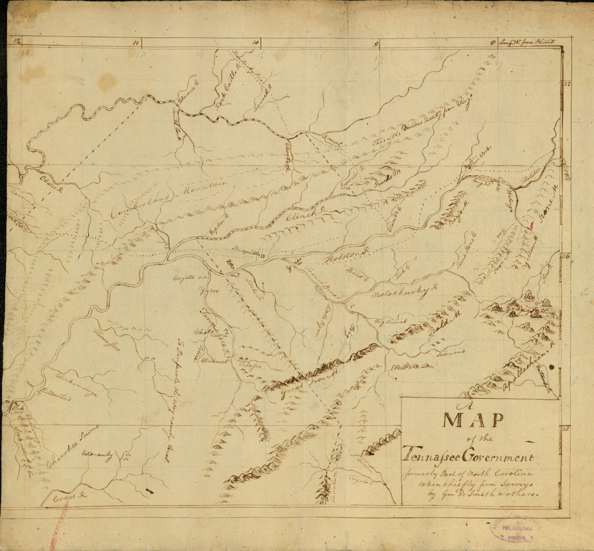 manuscript map of tennessee