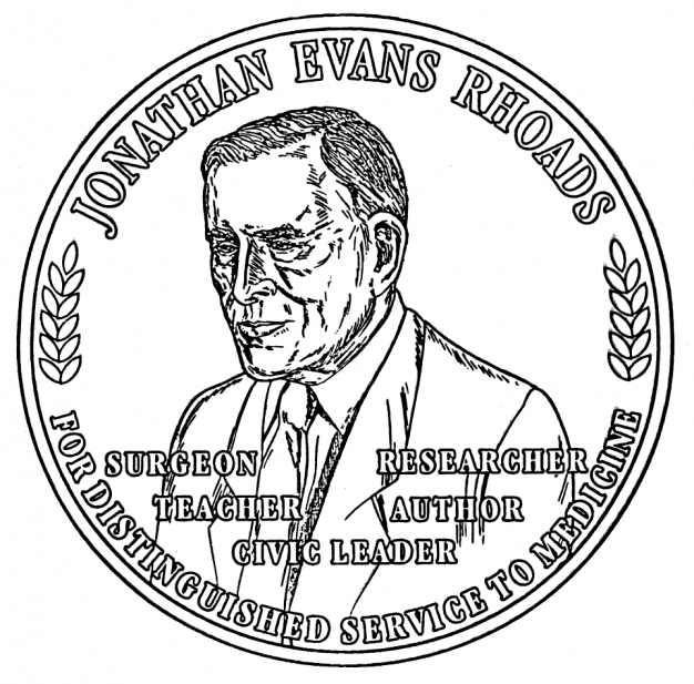 line drawing of medal
