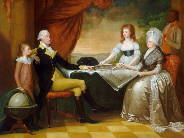 portrait of George Washington and his family
