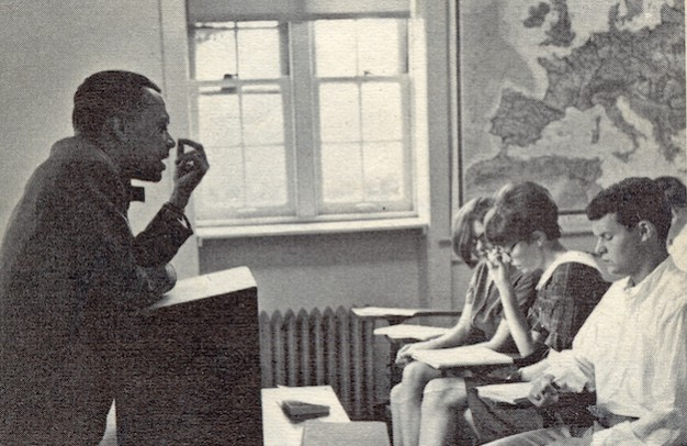 Willis in his Classroom