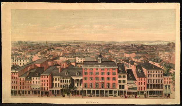 """North View of Philadelphia"" by Edwin Whitefield, from the APS collections."