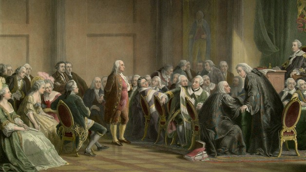 Franklin stands before the Lords in Council