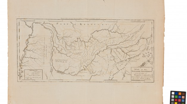 printed map of tennessee
