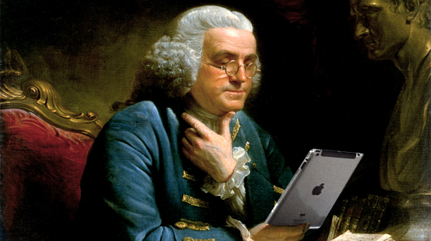 Franklin using an iPad