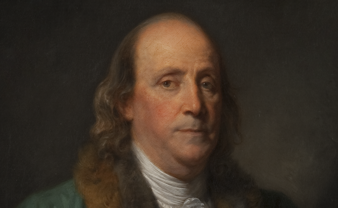 Greuze portrait of Benjamin Franklin