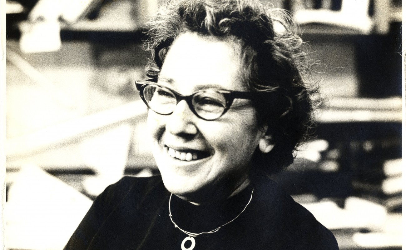 image of bespectacled woman