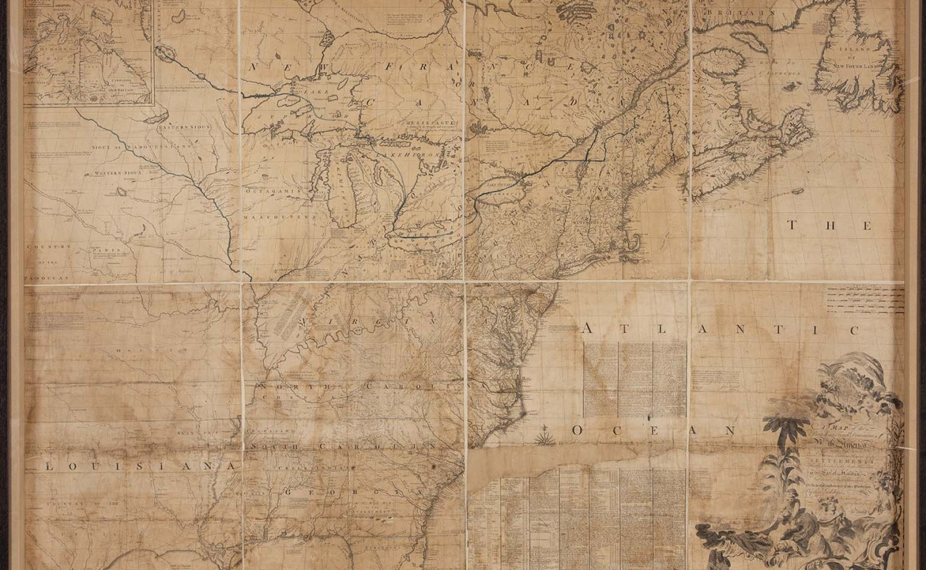 John Mitchell's Map of the British Colonies in North America, first printed 1755