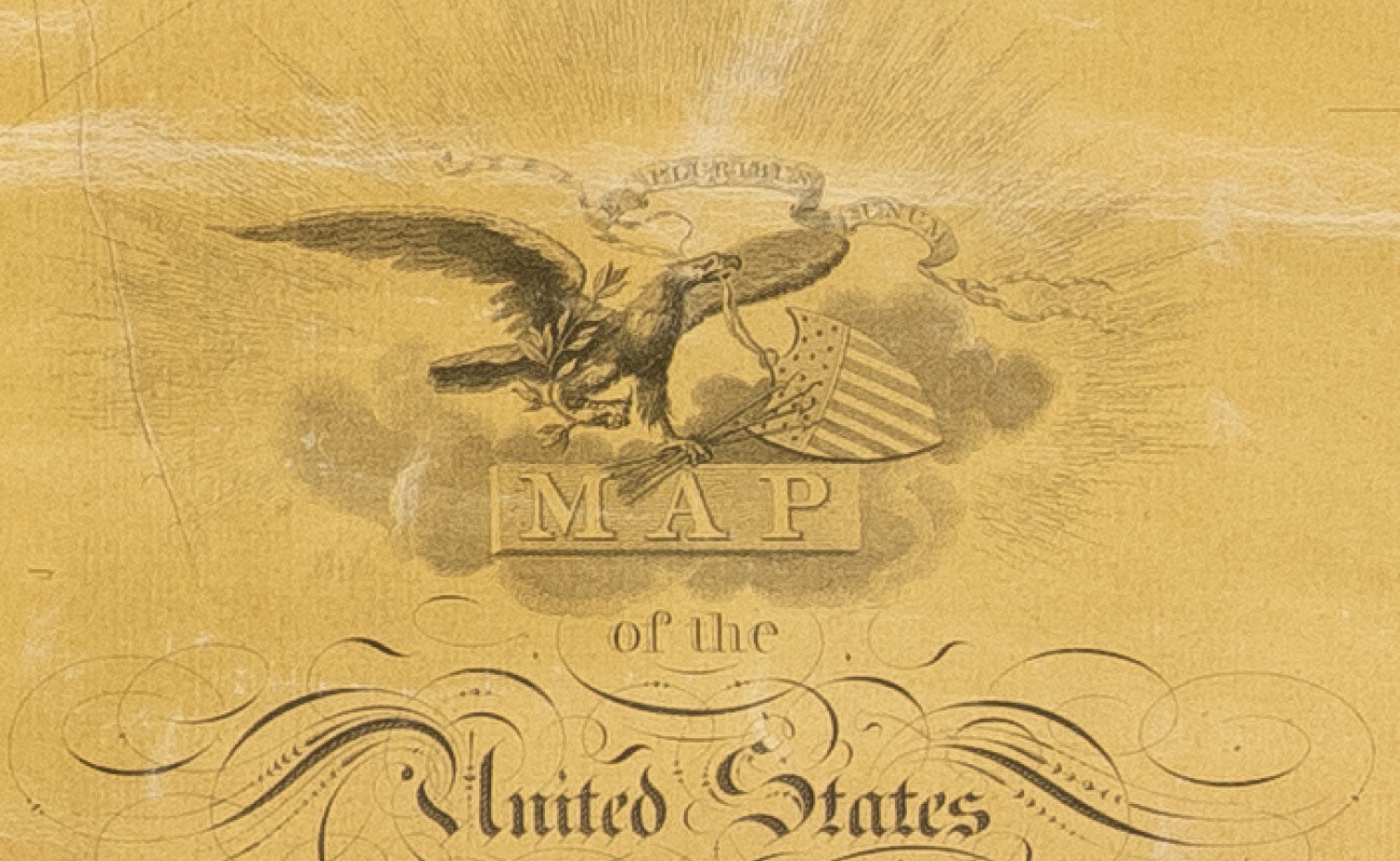 Melish 1816 Map of the United States Cartouche