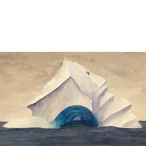 Drawing of iceberg