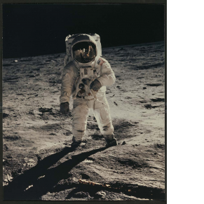 Photograph from First Manned Lunar Landing