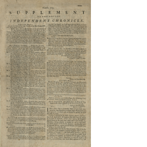 Supplement to the Boston Independent Chronicle, 1782