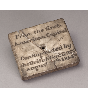 Stone from the First American Capitol, 1814-1818
