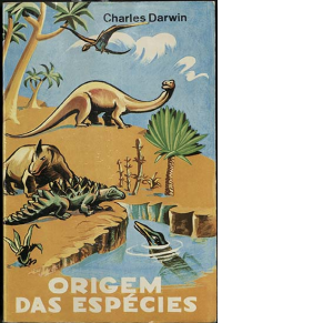 book cover with images of dinosaurs and title in Spanish