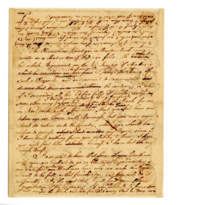 Franklin's Draft of a Letter to Cadwallader Colden