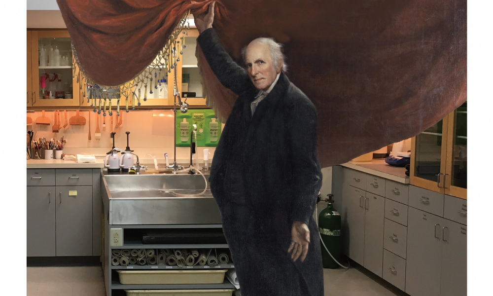 charles willson peale in conservation lab