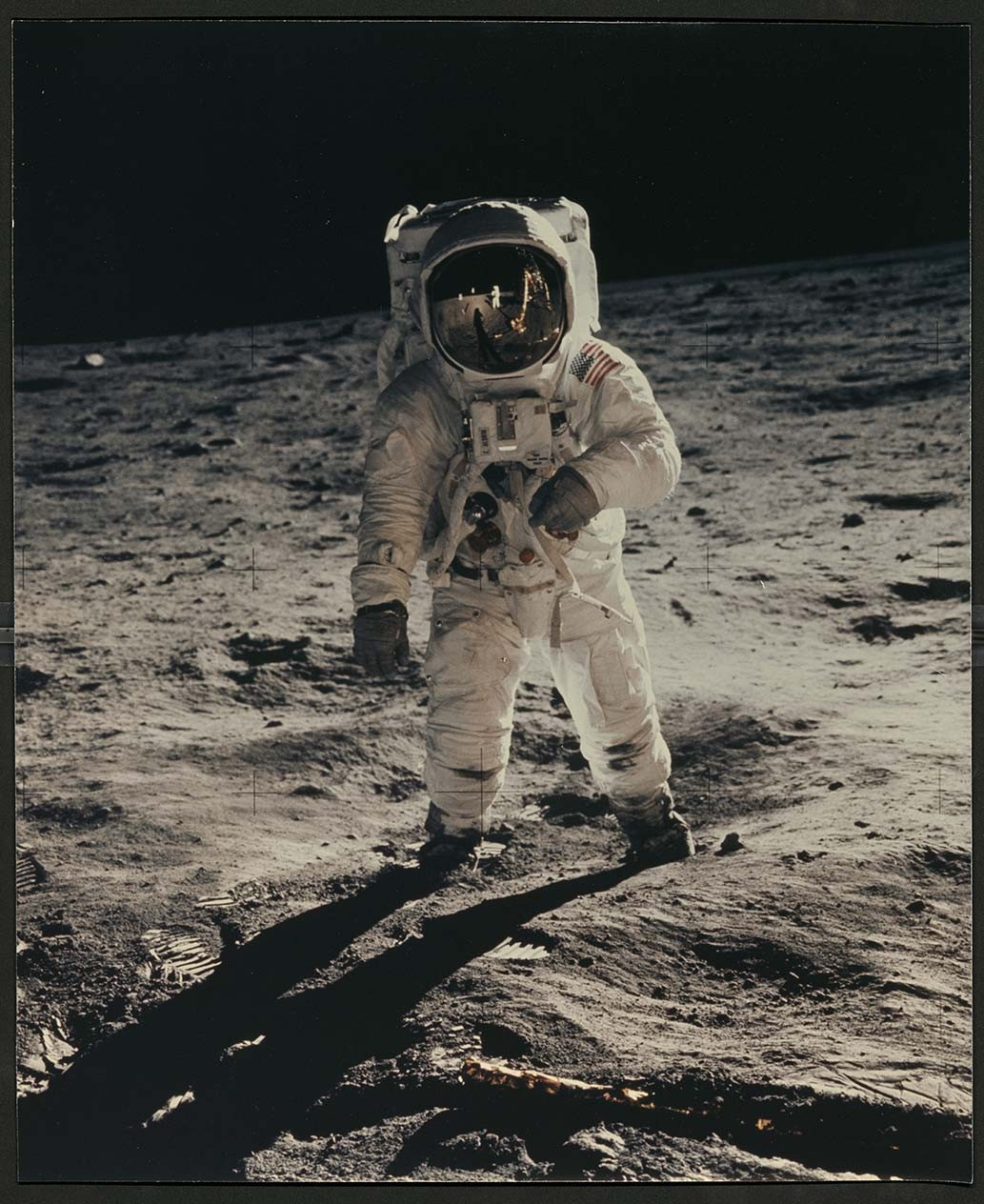 Photograph of Buzz Aldrin From the First Manned Lunar Landing, from the APS Library