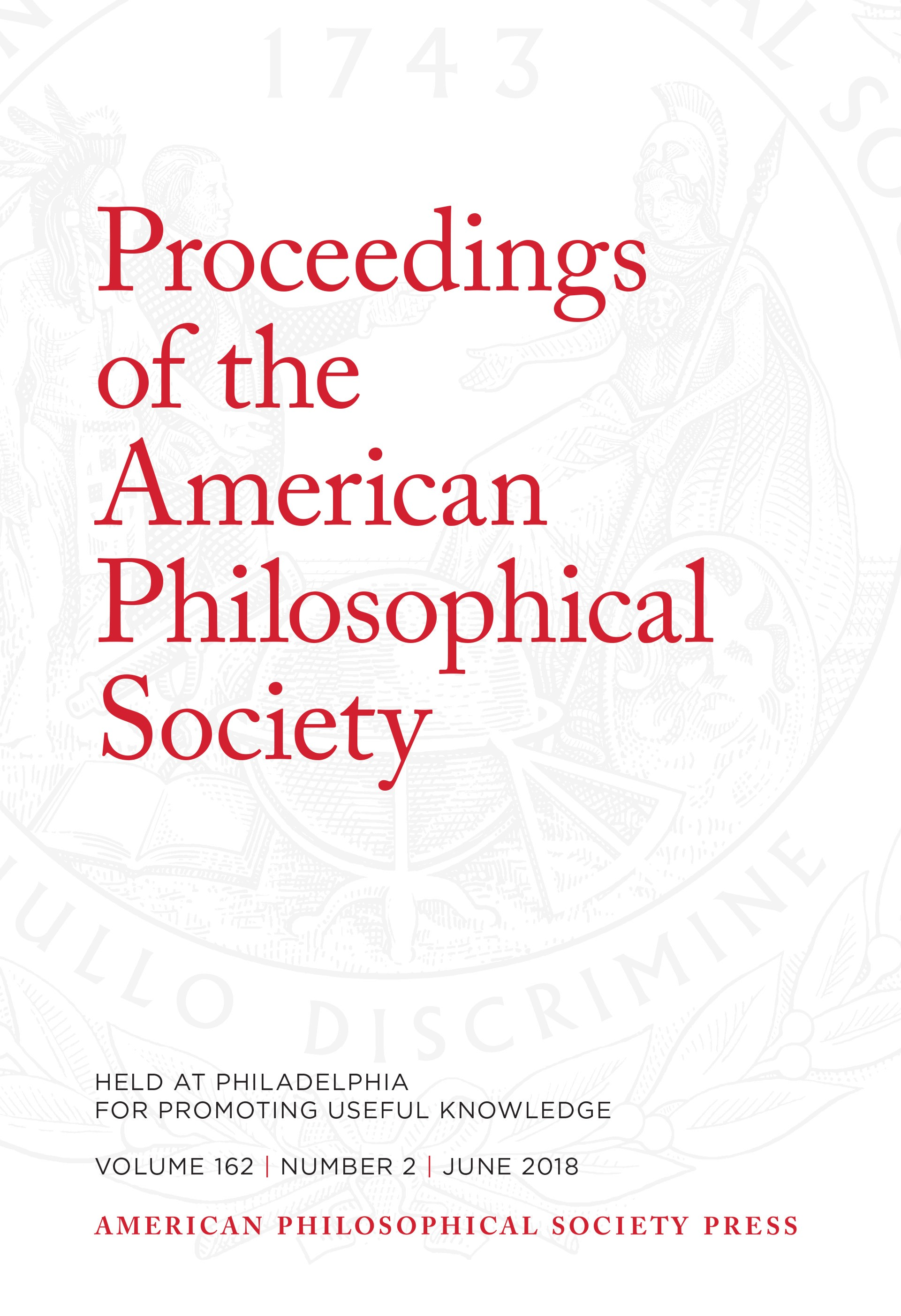Proceedings Volume 162: Number 2 Cover