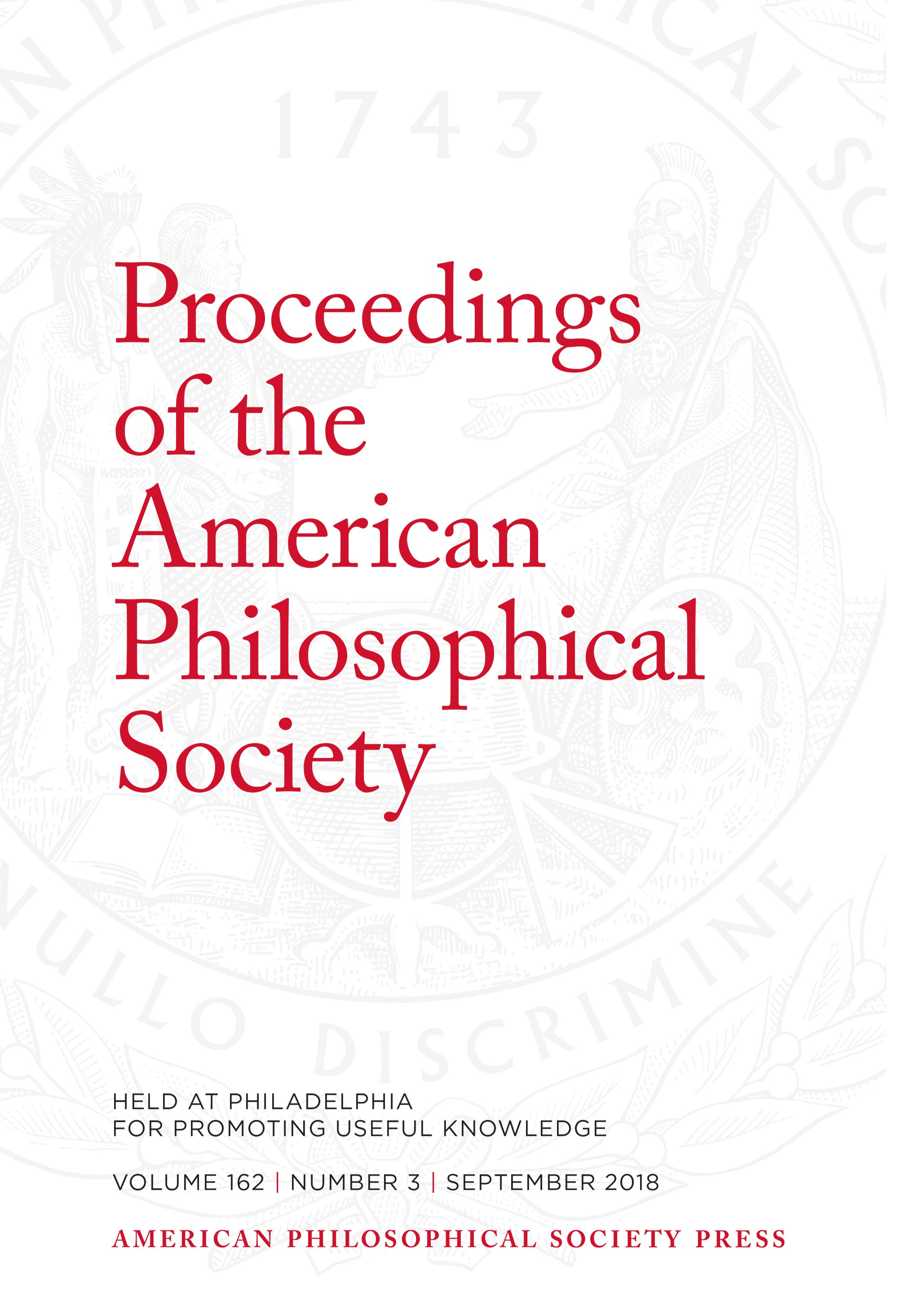 Proceedings Volume 162: Number 3 Cover