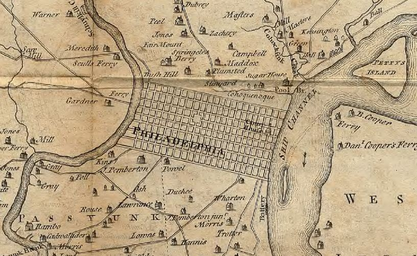 Map of Philadelphia and parts adjacent