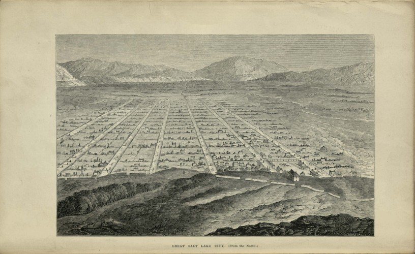 aerial view of Salt Lake City (drawing)