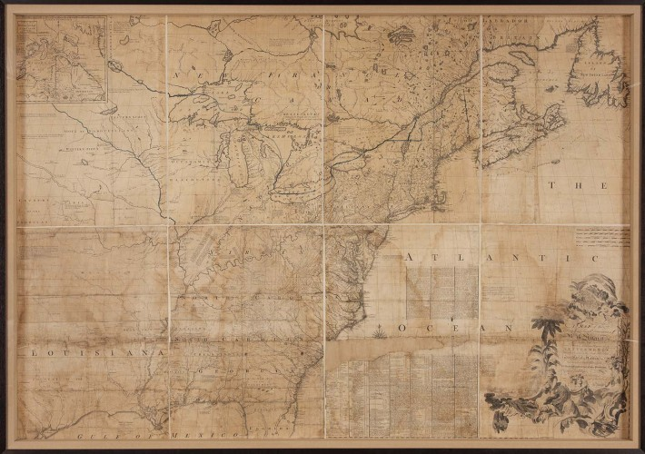 John Mitchell's map of the British and French dominions in North America