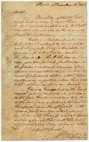 Washington's Letter to His Brother